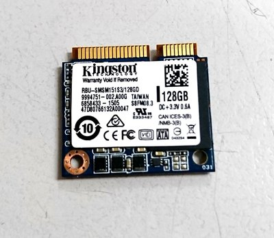 全新 Kingston 金士頓 mSATA SSD  128G 固態硬碟 特殊 半高