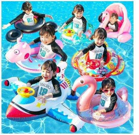 【多種款式】兒童嬰兒泳圈 遊泳圈加厚寶寶坐圈騎幼兒救生圈漂浮充氣小孩網紅浮圈 加厚造型泳圈 坐式泳圈