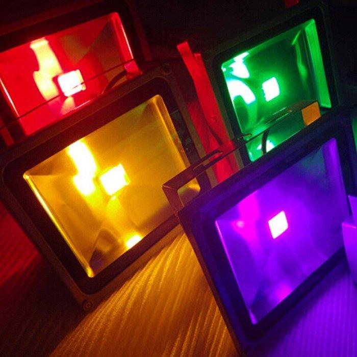5Cgo【權宇】專業LED投光投射燈戶外防水廣告造景氣氛藍黃綠紅四色10w20w30w50w100w150w200w含稅