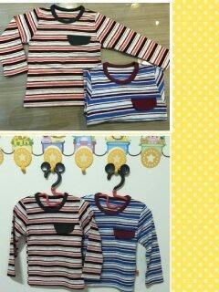 男童 秋款條紋上衣 有同款條紋褲子可 可當內搭 外出衣 居家服