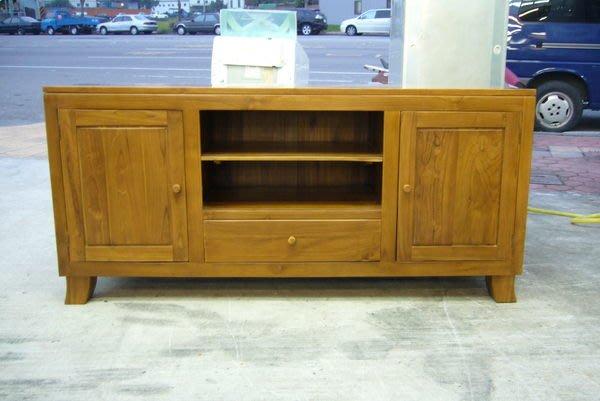 宏品二手傢俱 柚木家具拍賣 21P800 原木/柚木兩門一抽屜電視櫃 TV矮櫃 高低平面櫃 實木櫃