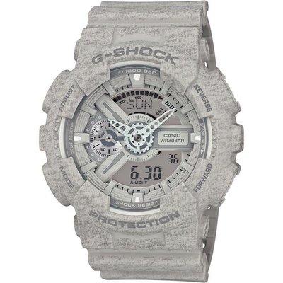 CASIO卡西歐 G-SHOCK 搶手水泥灰搶眼個性雙顯配置經典運動錶 GA-110HT-8ADR 台灣公司貨 全新品