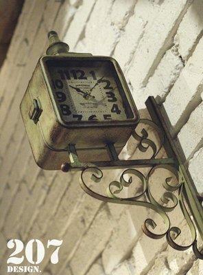 美學空間《復古双面時鐘 古典風格 -英國進口經典仿舊復古方型雙面鐘》