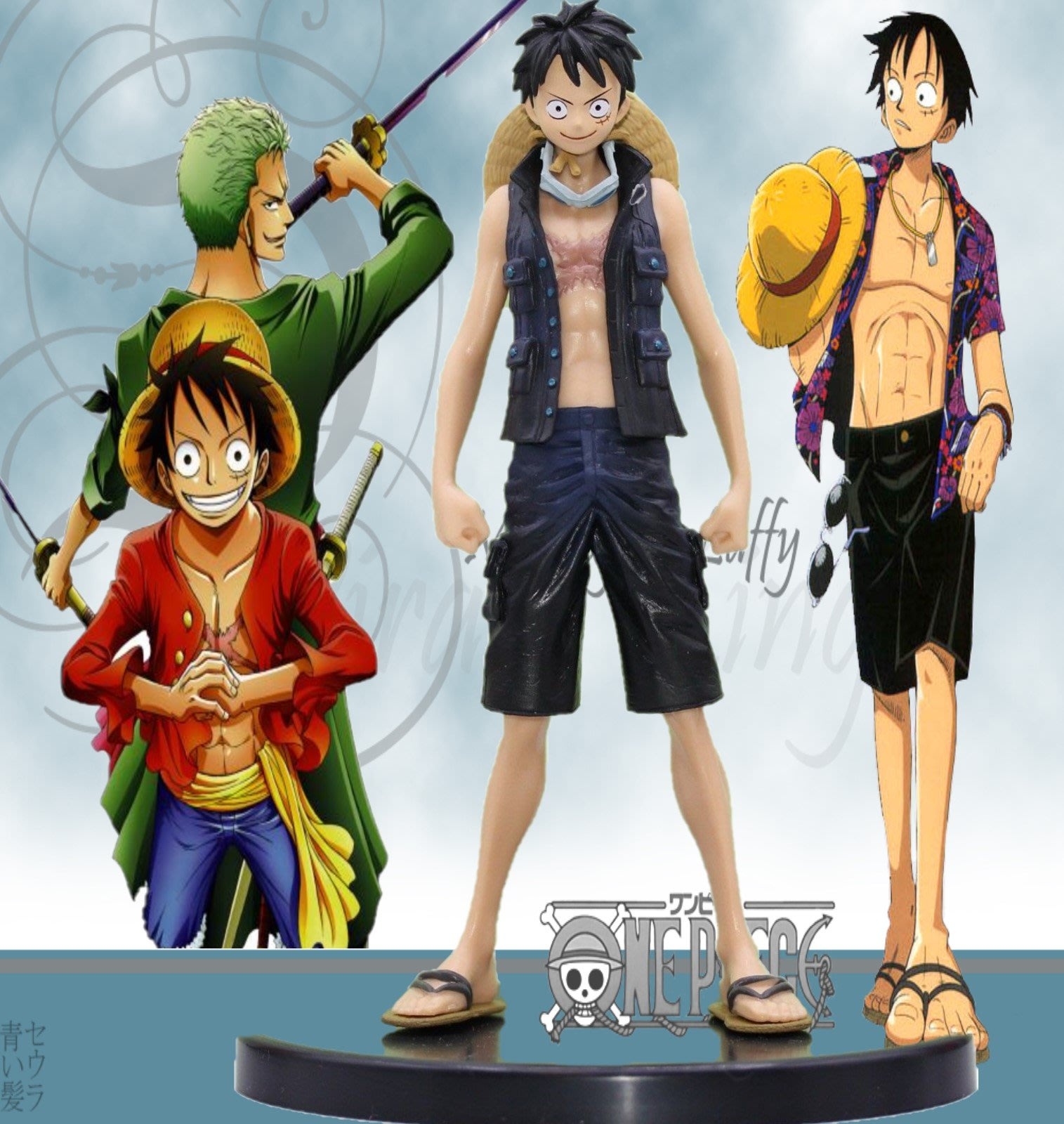 GON103 / LUFFY 海賊王日本動漫 / One Piece Japanese Anime / 17cm