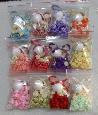 婚禮小物DIY~小捧花鑰匙圈~~捧花鑰匙圈材料包~~~半成品材料包~~~~~現量優惠~~不挑色~不挑款~