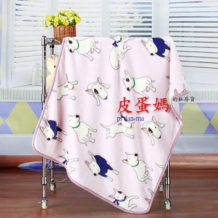 【皮蛋媽的私房貨】BED0122賤狗牛頭梗-梗犬柔軟寵物毯-毛毯-睡墊/小毯子/小棉被.睡毯-珊瑚絨嬰兒毯-狗被被貓毯