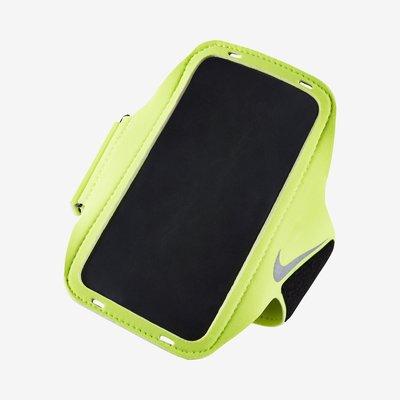 百狗體育 NIKE LEAN 手機臂套 慢跑臂套 運動臂帶 gym 黑色/瑩光綠 4.7吋