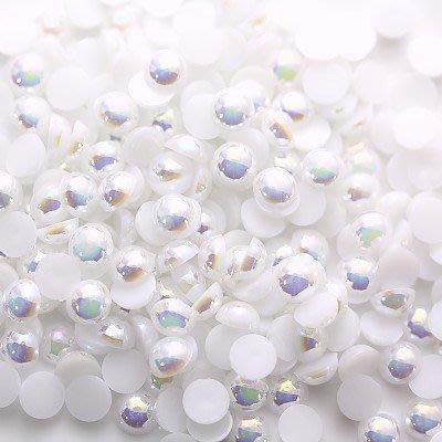 【白彩珍珠】搭配水鑽珍珠貼鑽材料DIY|手機貼鑽素材㊣iBling愛水晶