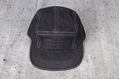 【HYDRA】Supreme Embossed Washed Denim Camp Cap 單寧 五分割【SUP039】