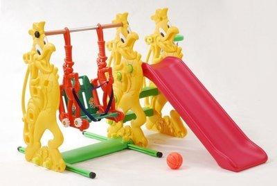 【W先生】公雞溜滑梯 鞦韆 籃框 兒童溜滑梯 台灣製造 ST安全玩具(贈100顆軟球)