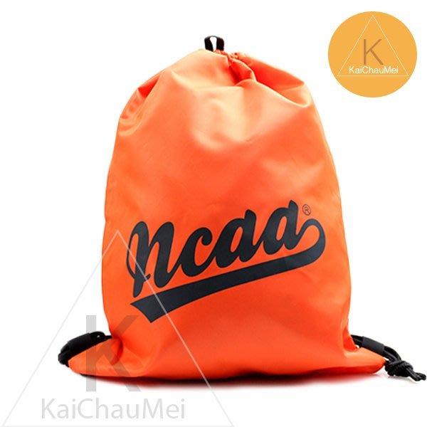 凱喬美│美國職籃NCAA 運動休閒 束口袋 螢光橘 拉繩 字母 後背包 球袋 滑板慢跑登山機能上學路跑競技 公路輕裝散步