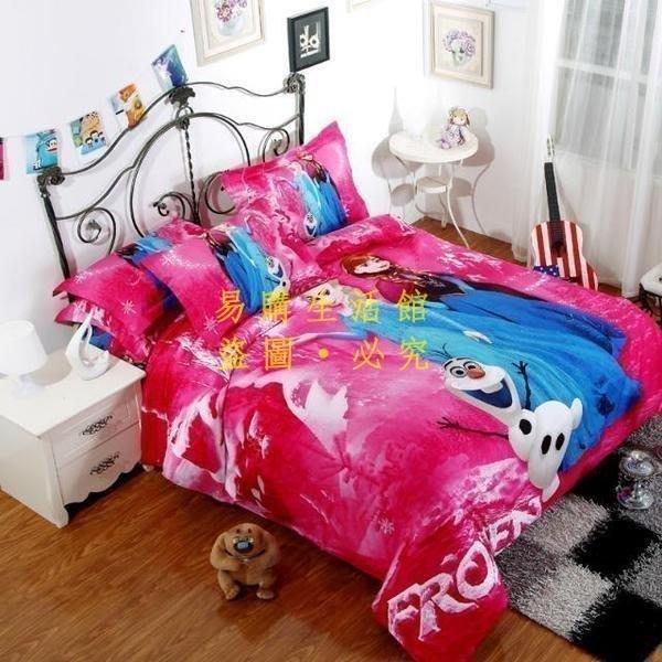 [王哥廠家直销]C款冰雪奇緣 純棉 加大雙人床包組 床件組 (被套/枕頭套/床包)-1.8MLeGou_3044_3044