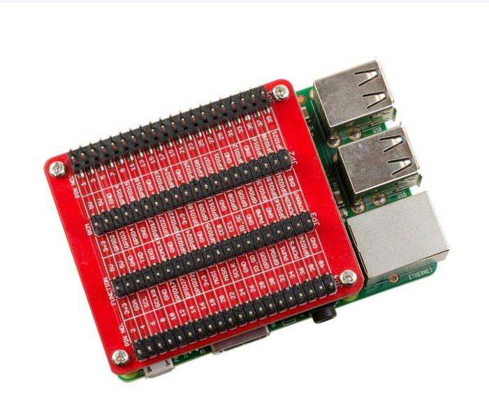 【莓亞科技】樹莓派GPIO擴充板(3組, 含稅現貨NT$468)
