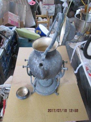 早期 印度銅製鍍銀咖啡壺油燈