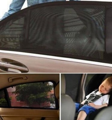 汽車車窗罩【NT022】汽車防蚊蟲遮陽窗罩(2入) / 車用隔熱貼 防蚊罩 遮陽 側檔 防曬 玻璃隔熱