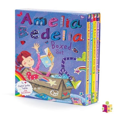 [文閲原版]英文原版Amelia Bedelia Chapter Book Box Set: Books 1-4