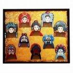 6【梳篦禮盒-88-多款可選-1款/組】特色工藝禮品 木梳子 手工彩繪 生日祝福禮物-30011