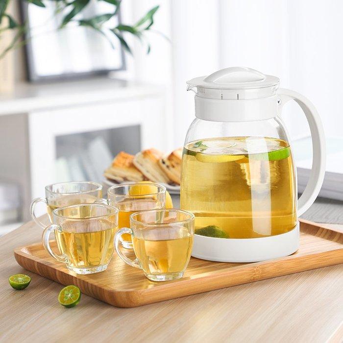 冷水壺耐高溫大容量玻璃涼白開水杯茶壺套裝家用果汁壺防爆涼水壺