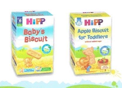 【喜樂之地】HIPP 喜寶 有機小象纖維麥餅/寶寶小麥餅乾 (150G/包)