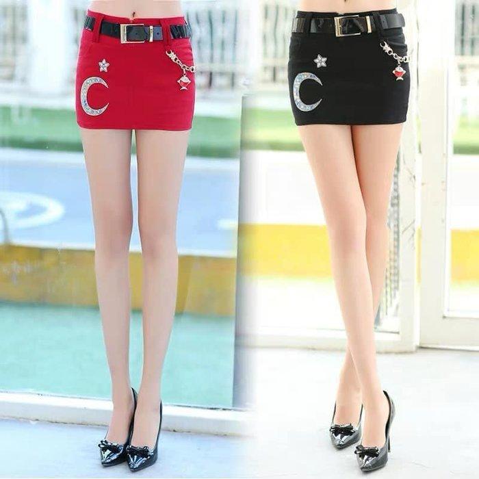貓姐的團購中心~217Z 鑲鑽包臀短裙~2種顏色~S-XL一件450元~預購款