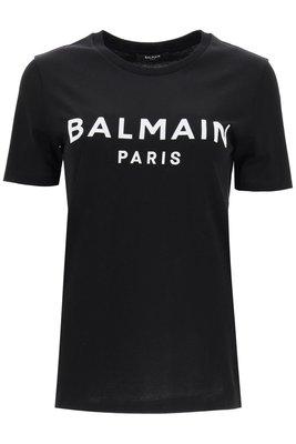 【折扣預購】20秋冬正品Balmain paris 白色logo短袖T恤 黑色短T 棉T-shirt上衣