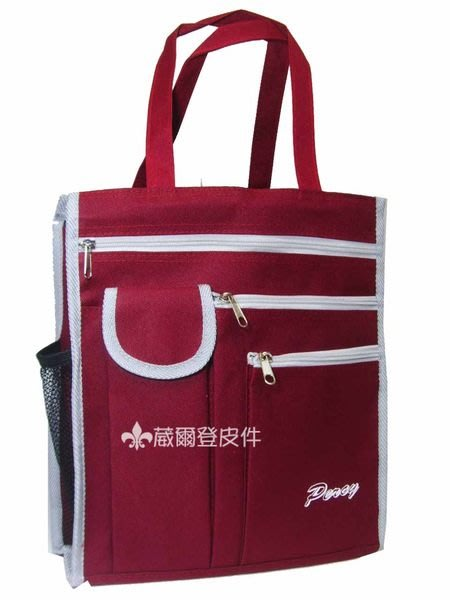 【葳爾登】PERCY手提袋便當袋/兒童補習袋/文具袋/萬用購物袋/才藝袋/簡便型便利袋紅色