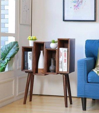 『格倫雅』北歐實木創意床頭櫃小書櫃美式簡約沙發邊櫃鬥櫃雜誌櫃邊角幾^1763