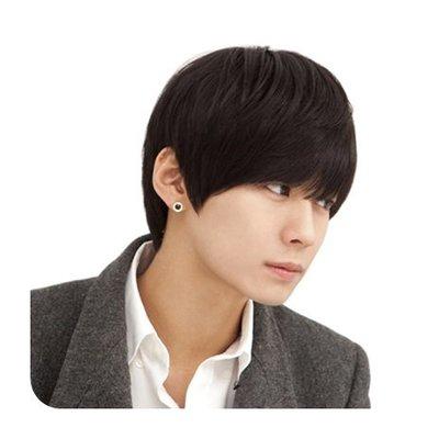 整頂 假髮 真髮絲-短直髮自然帥氣舒適男假髮2色73vb19[獨家進口][米蘭精品]