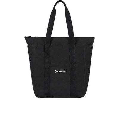 沃皮斯§Supreme Canvas Tote 黑色 托特包 SUP124