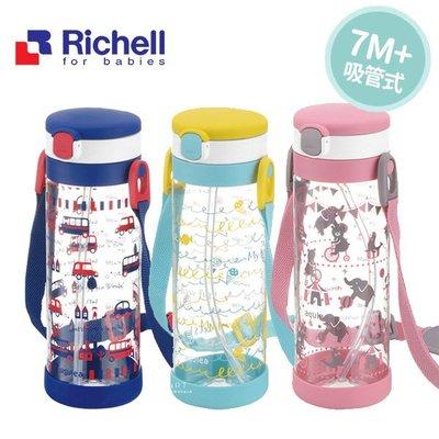 【媽媽倉庫】日本Richell利其爾吸管冷水壺450ml 水瓶