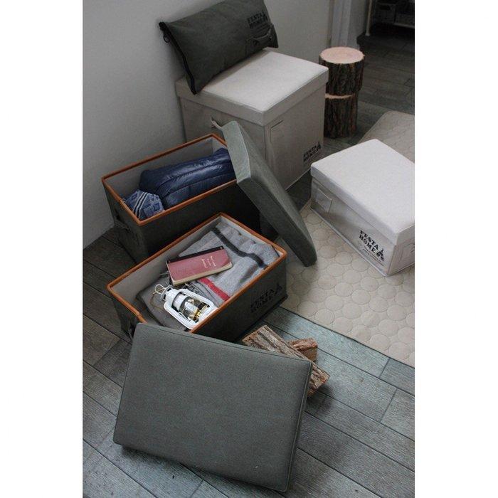 《齊洛瓦鄉村風雜貨》日本zakka雜貨 摺疊帆布收納椅 收納箱 防水收納箱 萬用收納箱 野餐椅  登山椅 (大)