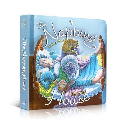 英文原版繪本 The Napping House 打瞌睡的房子紙板書 2-6歲用有聲書輕松聽出英語力廖彩杏書單吳敏蘭推薦