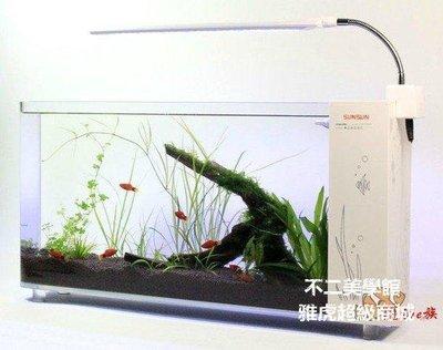 【格倫雅】^森森超白玻璃魚缸 小型魚缸水族箱 桌面長方形生態金魚缸37171[g-l-y75