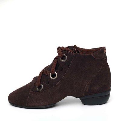 Afa安法國標舞鞋/拉丁舞鞋~~多功能運動舞鞋 原價$2,300~~70515 深棕色麂皮低筒靴