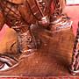 天然紅豆杉門神擺件 供奉左右護法神像工藝品木雕擺件一對