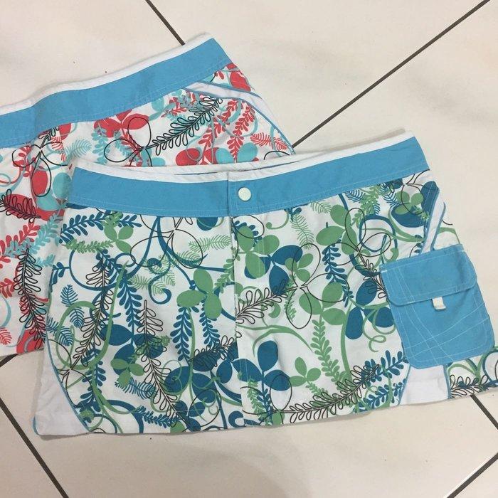 Roxy歐美潮流品牌❤️ 二手  夏日迷你海灘短裙 藍色