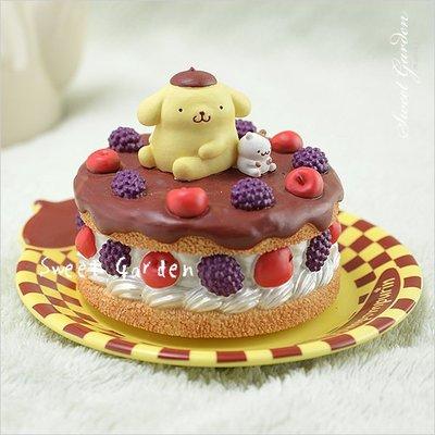 Sweet Garden, 布丁狗點心盤音樂盒 附盤子(免運) 甜蜜可愛 蘋果蛋糕 生日禮物