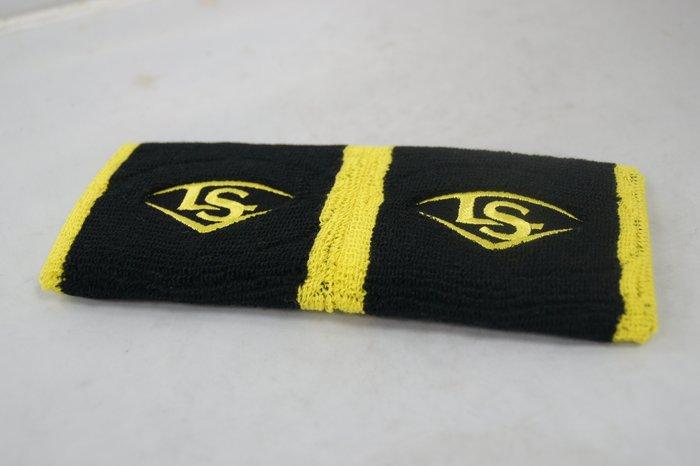 《星野球》LS Louisville Slugger 短護腕 黑黃(雙)  棒壘球 跑步