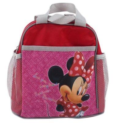 【卡漫迷】 手提袋 米妮 粉紅 Minnie 方形 ㊣版 拉鍊 餐袋 便當袋 手提包 米奇女朋友 水壺袋兩邊