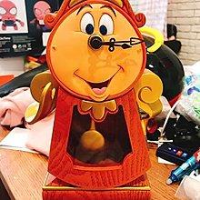 ☆☆Joan☆日本帶回❤香港迪士尼限定美女與野獸時鐘擺鐘茶壺媽媽時鐘管家