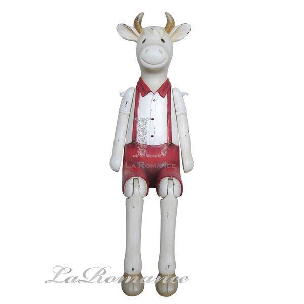 【芮洛蔓 La Romance】德國 Heidi 童趣家飾 - 歡樂農場紳士牛 / 動物擺飾 / 小孩房 / 庭院