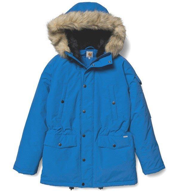 【咻SHOES運動】Carhartt Anchorage Parka WIP 禦寒外套 保暖大衣 寶藍 全新現貨