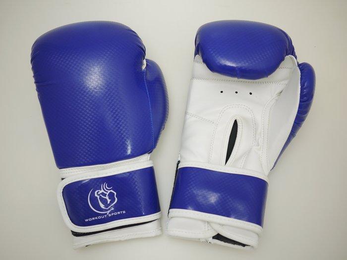 【神拳阿凱】Workoutsports 拳擊手套 拳套 健身房 拳擊入門團體課 學校社團 拳館 工作室 藍色
