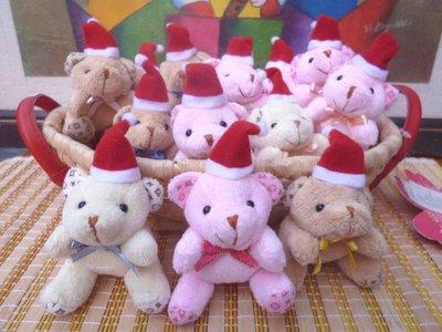 免運費~100隻兩款聖誕熊手機吊飾~耶誕節結婚禮小物二次進場送客禮贈品婚宴囍糖袋來店禮開幕迎賓禮滿額禮周年慶生園遊會義賣