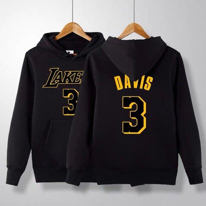 💥戴維斯Anthony Davis長袖連帽T恤上衛衣💥NBA湖人隊Adidas愛迪達運動籃球衣服大學純棉T男女967