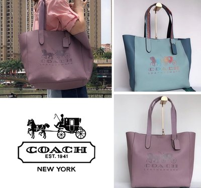 小皮美國正品代購 COACH 25099 新款 素面馬車Logo 潮流時尚 休閒購物袋單肩包包 附憑證