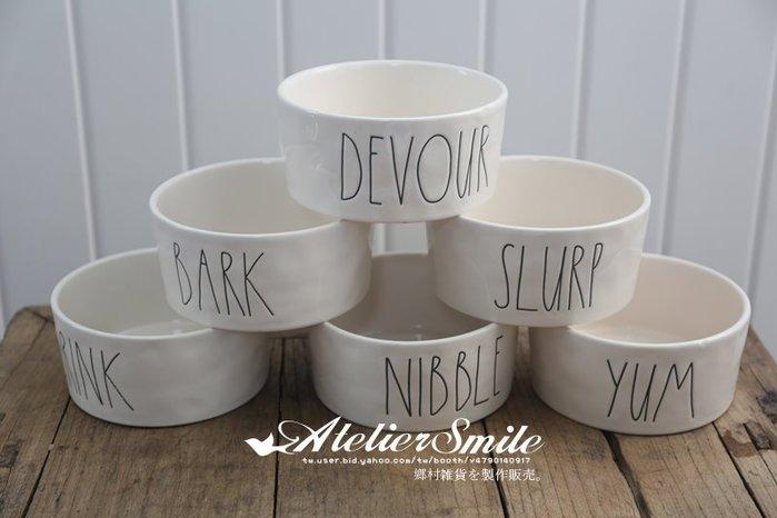 [ Atelier Smile ] 鄉村雜貨 北歐風 RAE DUNN 手作字母沙拉碗 水果碗 甜點碗 (現+預)