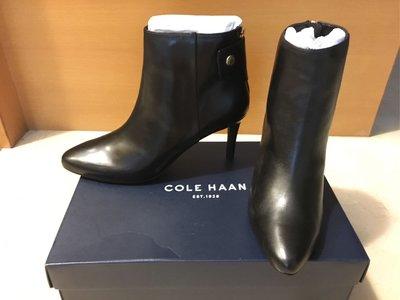 全新正品Cole Haan黑色細跟短靴(size:US 8.5)