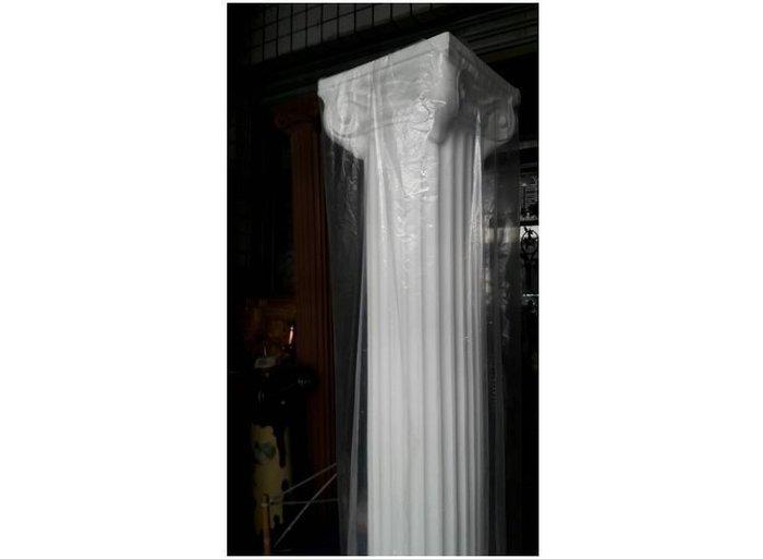 櫥窗展示專用 場地佈置 會場展覽佈置 婚禮節慶.展示櫃柱腳.PE材質~白色羅馬柱246公分$5800
