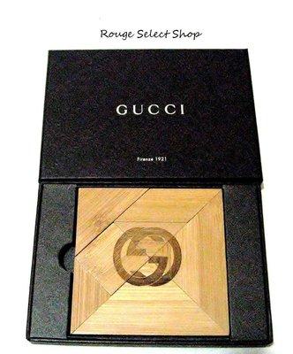 國際精品Gucci 全新LOGO壓印竹塊拼圖 / *現貨NT$1元起標*